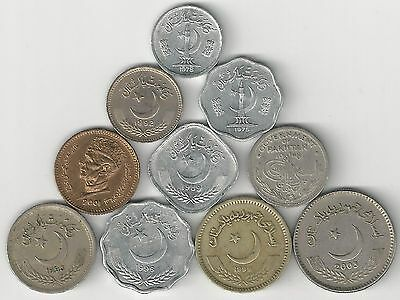10 DIFFERENT COINS from PAKISTAN (10 DENOMINATIONS/1948-2003)