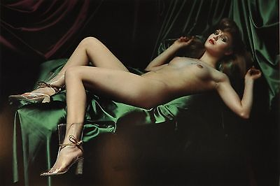 Helmut Newton Sumo Photo 50x70 Fashion Maud Frizon 1977 Jassara Rue Aubriot Nude