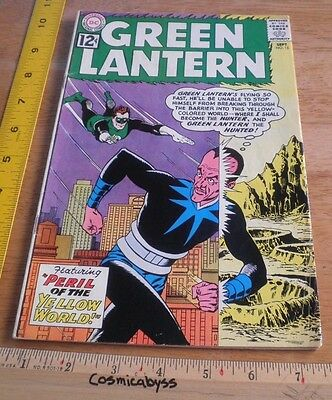 Green Lantern 15 comic 1960's Silver Age VG-F Yellow World