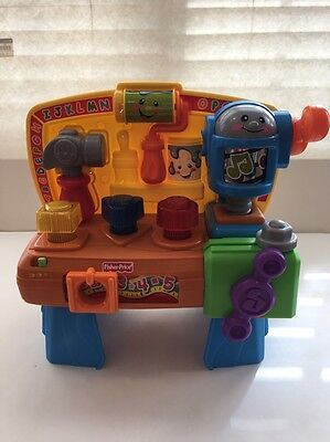 Fisher Price Laugh & Learn Learning Workbench Tools Musical Toddler Baby Toy
