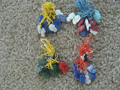 1930's VTGE Japan Glass CAMEO CHARMS Cracker Jack Charm Toy Prize Lot of 24 NOS