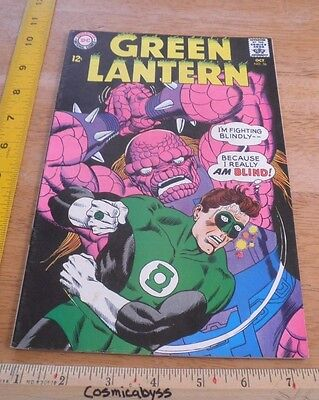 Green Lantern 56 comic 1960's Silver Age F/VF 12 cent blind fighting