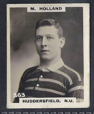 Pinnace Football-Black Oval Back-#0363- Rugby - Huddersfield. N.u. - M. Holland