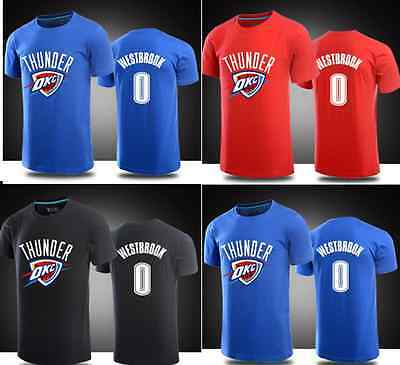 Russell Westbrook #0 Kids Youth Jersey Tops T Shirt Shirts Oklahoma City Thunder