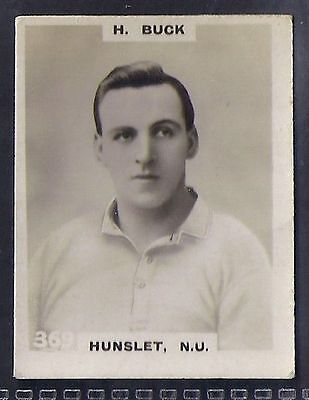 Pinnace Football-Black Oval Back-#0369- Rugby - Hunslet. N.u. - H. Buck