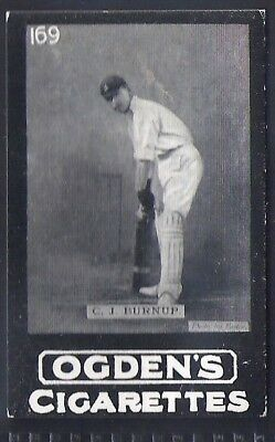 Ogdens Tabs-Series D Cricket Card-#d169- Kent - Burnup