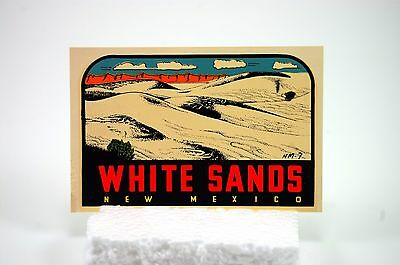White Sands New Mexico Water Decal Lindgreen Turner Vintage Travel Landmark