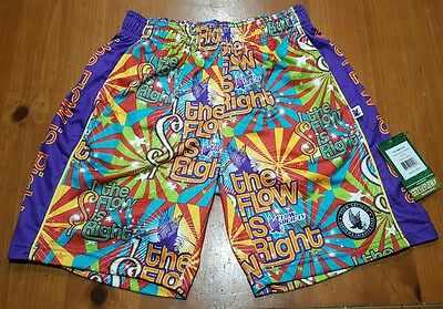Flow Society Shorts THE FLOW IS RIGHT Lacrosse Youth Kids SIZE XS Extra Small