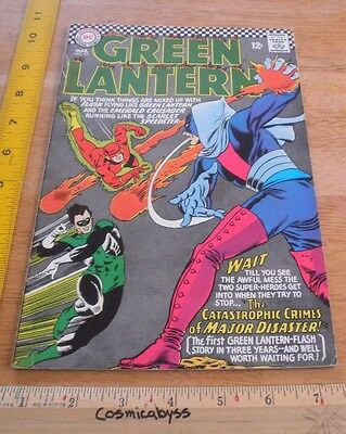 Green Lantern 43 comic 1960's Silver Age F 12 cent The Flash
