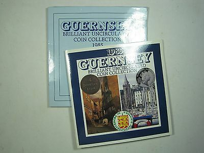 GUERNSEY £1 ~ PENNY SET 1985 MINT PACK CROWN GREAT BRITAIN UK GB 7x LOT COIN