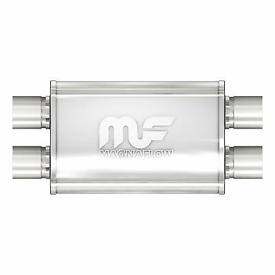 """Magnaflow Muffler Exhaust Universal Stainless Steel Oval   2.5"""" In / Out 11386"""