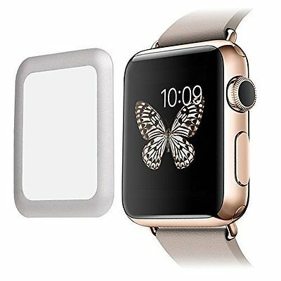 SILVER BEZEL TEMPERED GLASS Screen Protector Film For iWatch 42MM APPLE WATCH 1