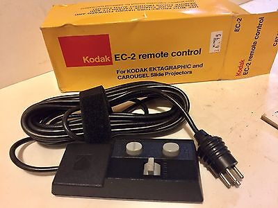 Kodak EC-2 Remote Control for Slide Projector Ektagraphic, Carousel In Orig. Box