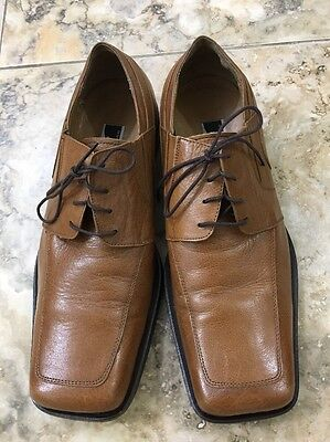 Michele Olivieri Size 10 Brown Leather Dress Shoes Men's