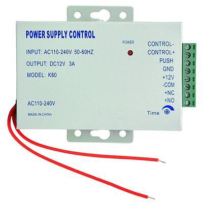 Worldwide Voltage AC110-240V to DC12V 3A Power Supply for Access Control System