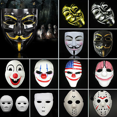 Anonymous Hacker V For Vendetta Guy Faiges Fancy Dress Halloween Face Mask Up