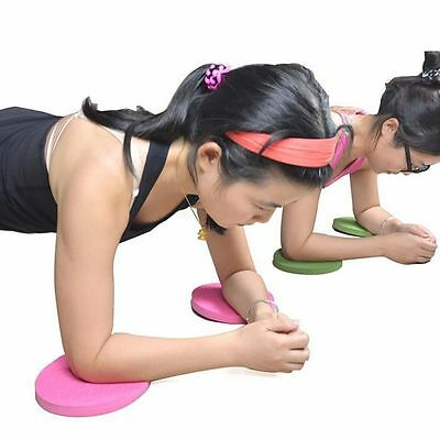 Sports Yoga Round Workout Foam Pad Cushion Eliminate Knee Elbow Protector Mats