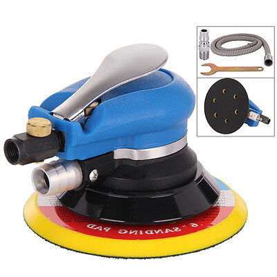 "6"" Air Random Orbital Palm Sander 150mm Dual Action Vacuum Pneumatic Tools Set"