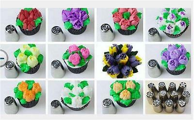 12PCS Russian lcing stainless Piping Cake Decorating  Sugarcraft  Pastry Tool
