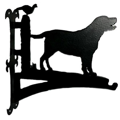 Labrador with Pheasant Hanging Basket Bracket