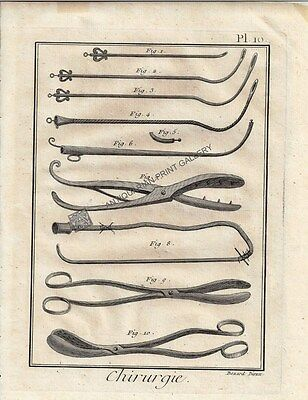 Medical Anatomy Medicine Forceps Surgical Instrument Childbirth Antique Print