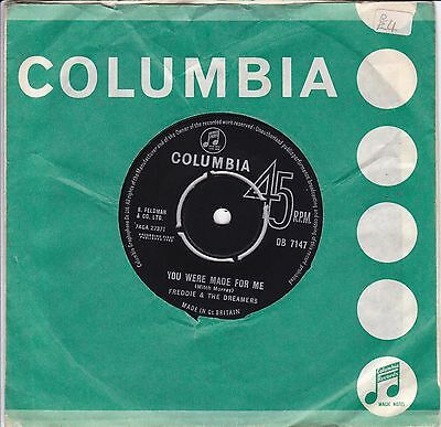 """""""almost Mint"""" Freddie & The Dreamers..you Were Made For Me..1963 Columbia Pop 7"""""""