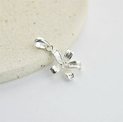 Solid 925 Sterling Silver Dainty Open Flower Pendant / Necklace - No Chain