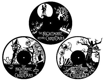 DXF CDR  File For CNC Plasma Laser Cut - Nightmare Before Christmas Clocks