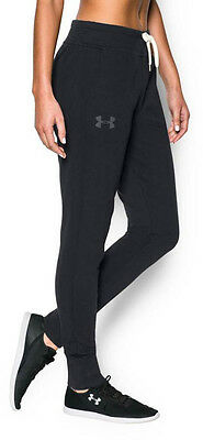Under Armour Favourite French Terry Ladies Track Pants - Black