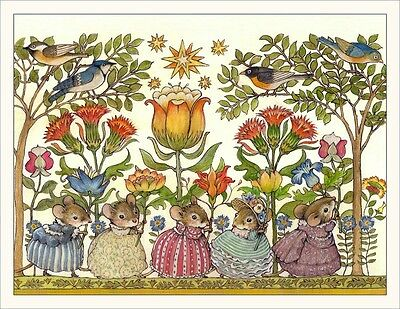 Wee Forest Folk Note#16 - Mice With Flowers Note Cards Set of 6