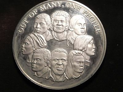 JAMAICA 10 DOLLARS 1978 Large Sterling PROOF OUT OF MANY, ONE PEOPLE