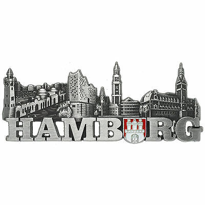 Hamburg Magnet Hamburger Highlights Landungsbrücken, Elbphilharmonie, Michel