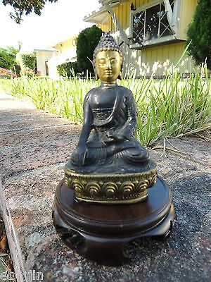 Chinese Brass Carved statue ' Sit Guanyin Buddha