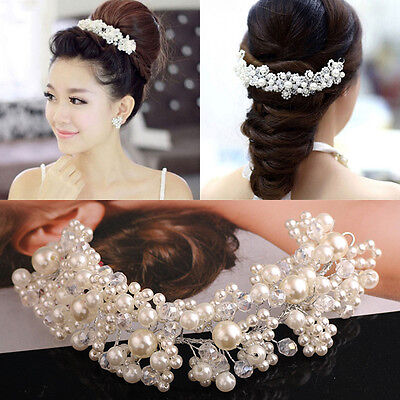 New Crystal Diamante Rhinestone Flower Pearl Hair Pins Slide Clips Grips Bridal