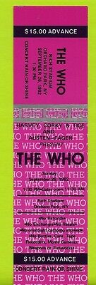 the Who 28 sept 1982 unused ticket FLAWLESS Rich Stadium Orchard Park NY