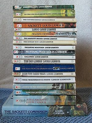 Lot of 19 LOUIS L'AMOUR Western Paperbacks, Complete SACKETTS Series + Companion