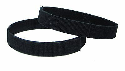 "Yoga Mat Straps  Two (2) Universal 18"" long Black velcro straps keeps mat rolled"