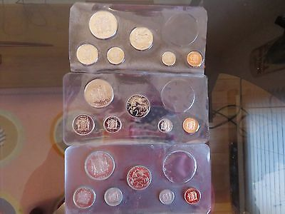 3 sets Jamaica 1971 1973 1973 $1 Dollar 25 20 10 5 1 cents Jamaican Set Coins