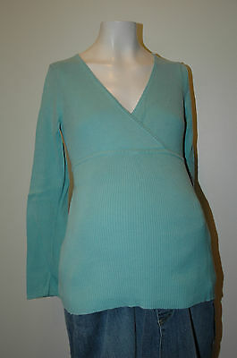 Old Navy Maternity Blue / Green Sweater Size XS Extra Small