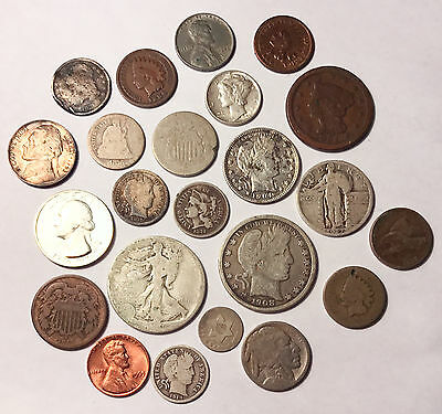 Lot of 23 Type Coins No Minimum Auction From Old Estate