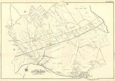 1915 G.w. Bromley Rossville Middle River Baltimore, Maryland Copy Plat Atlas Map