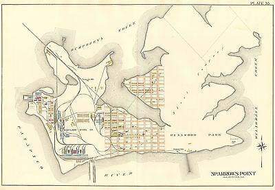 1915 Sparrows Point, Baltimore County, Maryland, Pennwood Park, Atlas Map