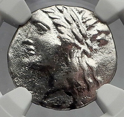 MILETOS in IONIA 250BC Apollo Lion Ancient Silver Greek Drachm Coin NGC i59956