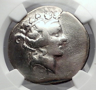 THASOS Thrace 148BC Dionysus Hercules Silver Greek Tetradrachm Coin NGC i59958