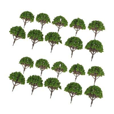 20x Model 1:75 HO Scale Trees Layout Train Railway Diorama Scenery SA80-D002