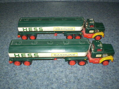 Vintage Hess Gasoline Fuel Oil Tanker Truck - Lot of 2
