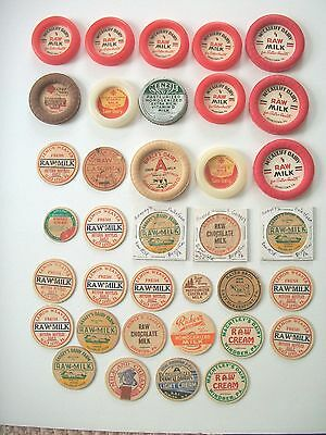 Lot Of (36 pc's)-Vintage Milk/Dairy Bottle Caps/Pennsylvania/Unused