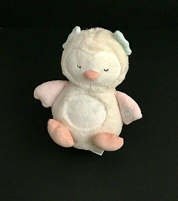 """Carters Night Owl Musical Light-Up 8"""" Plush Baby Soother Nightlight Stuffed Toy"""