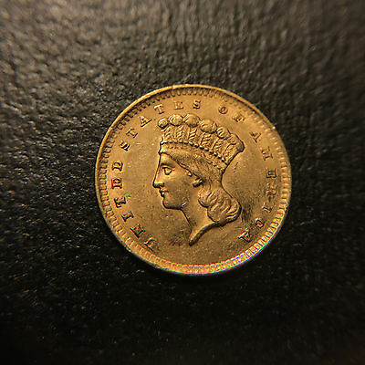1856 P Liberty Indian Princess Head Gold G$1 AU About Uncirculated Type 3