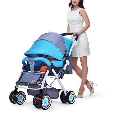 Pop Baby Stroller High View Toddlers Pushchair Outdoor Travel Folding Pram Buggy